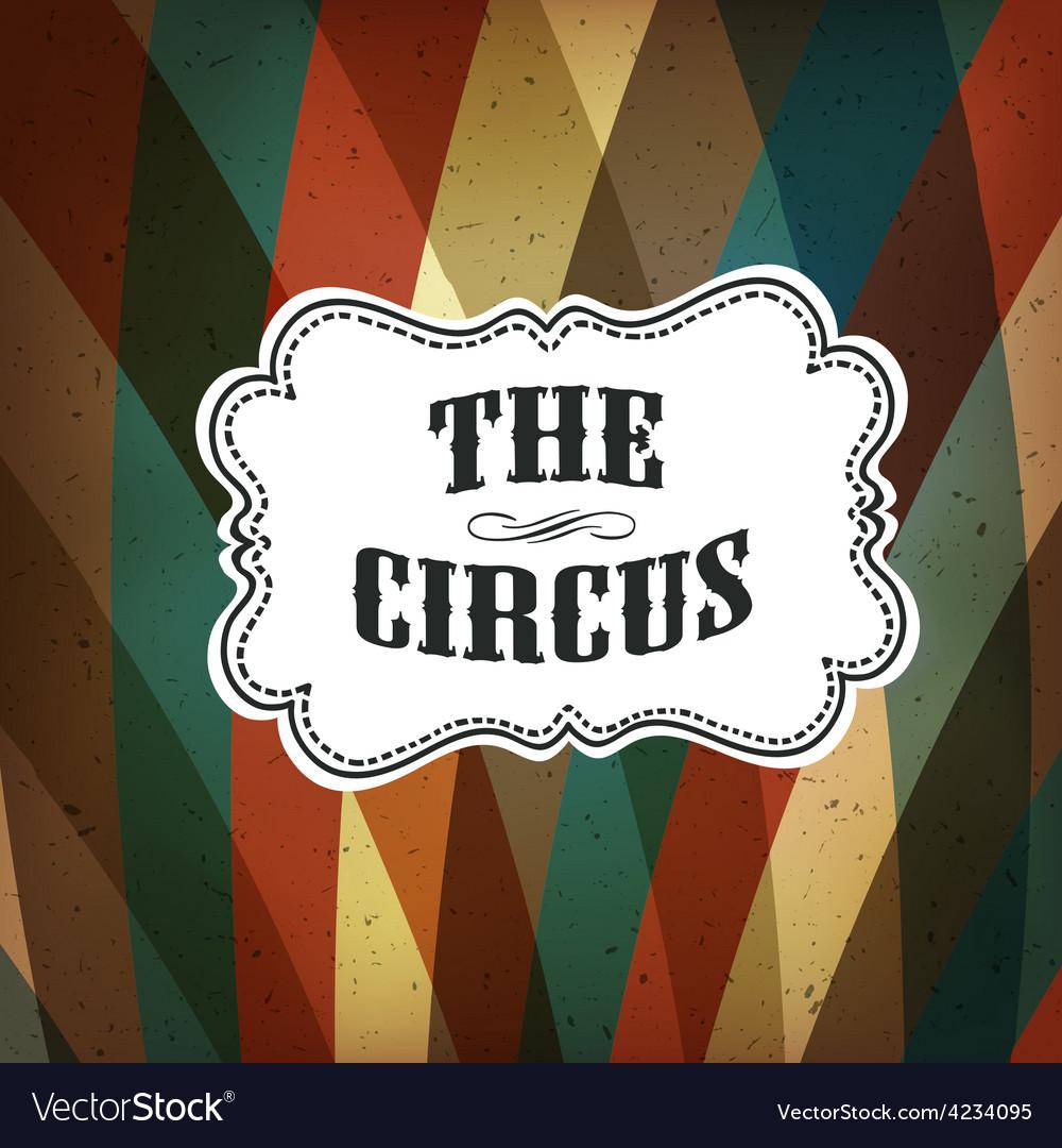 Circus background retro colorful