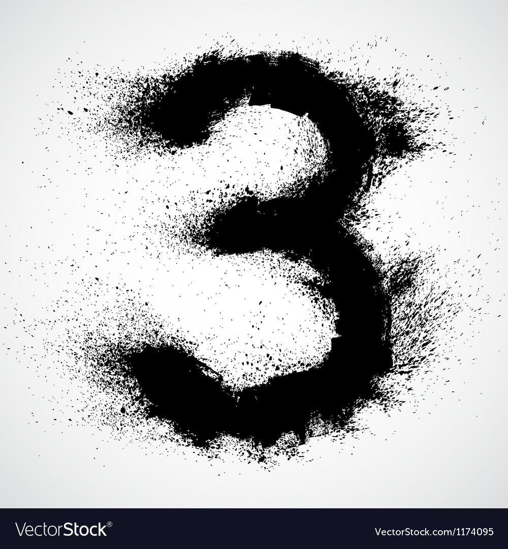Grunge letter - alphabet symbol design