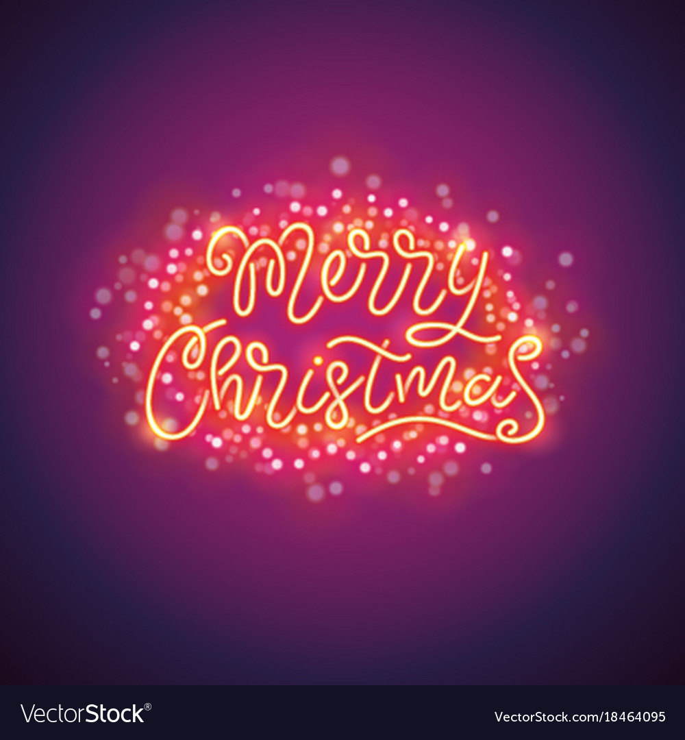 Merry christmas colorful poster with magic
