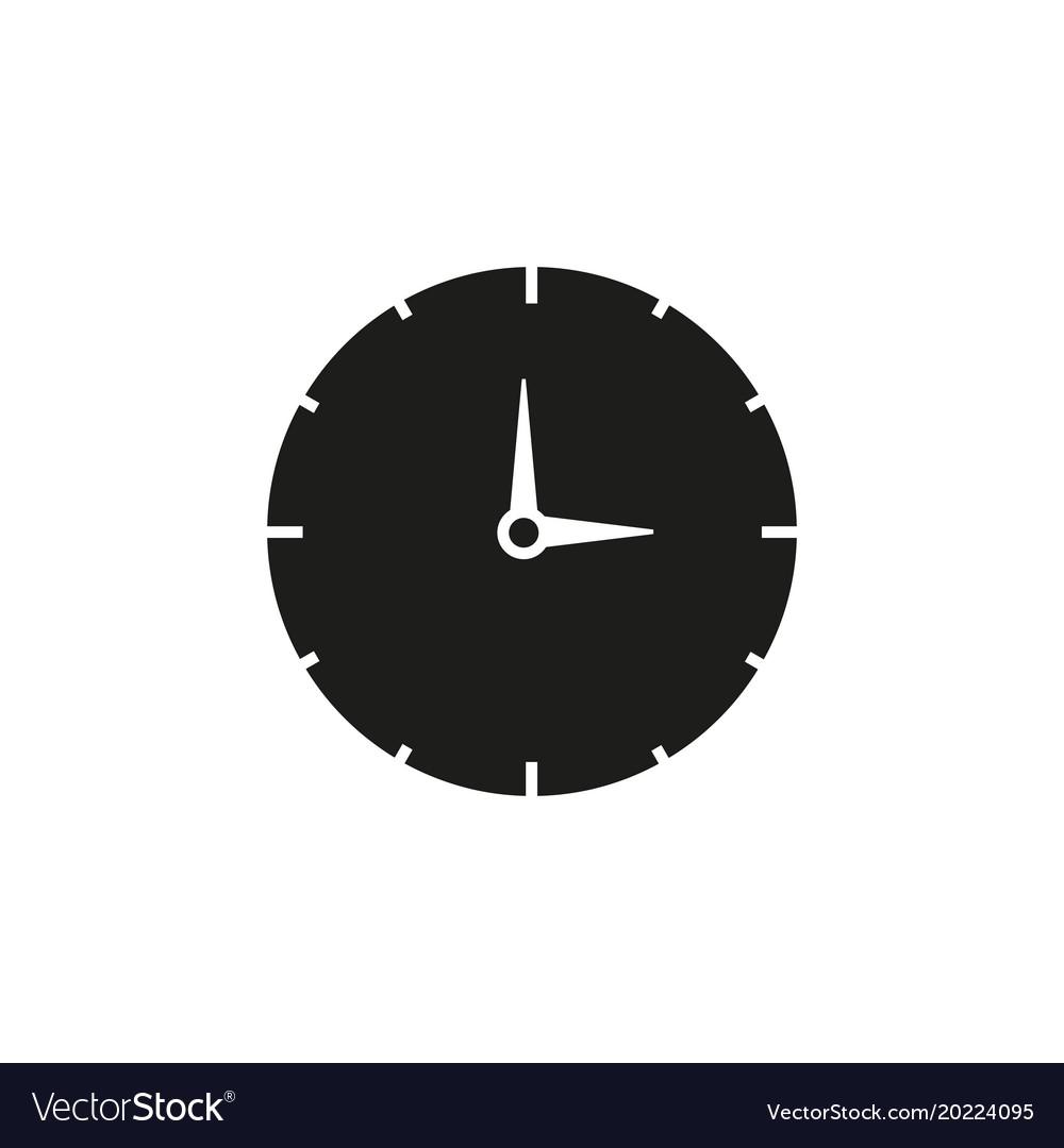 Work time black clock icon