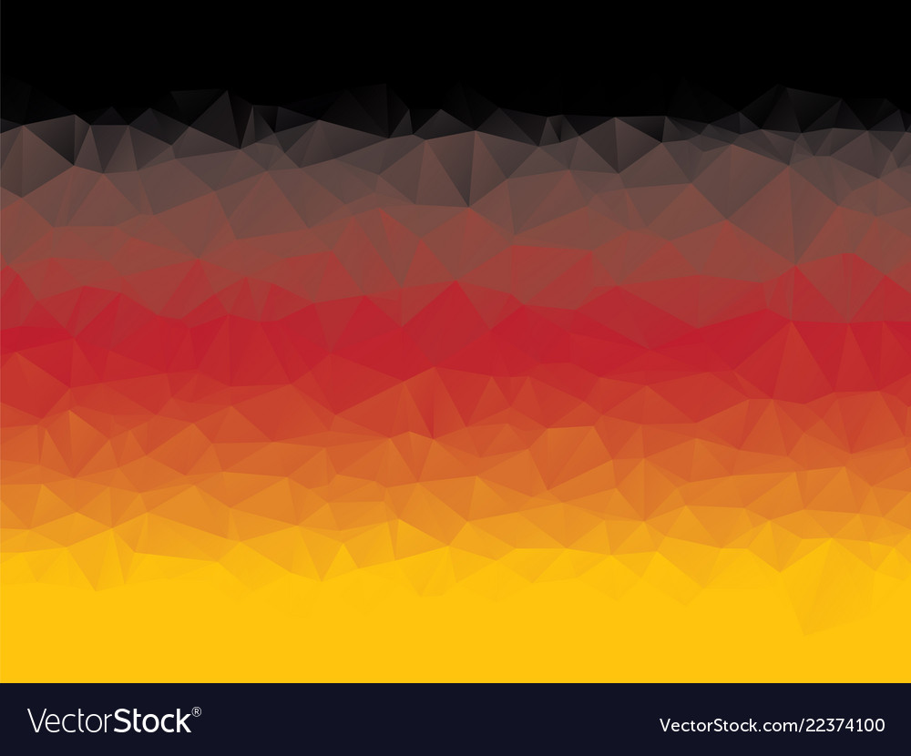 Abstract geometric black red yellow triangular