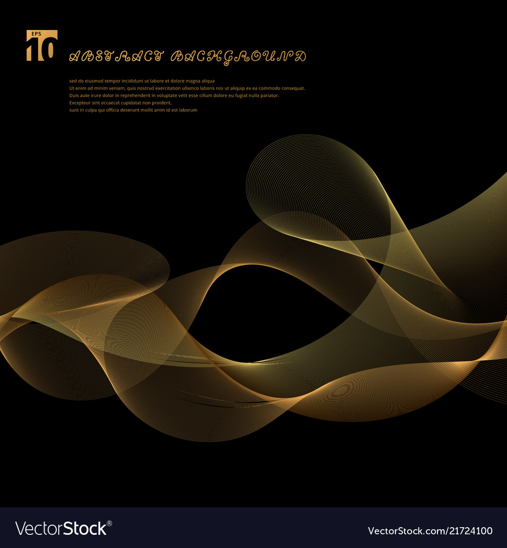 Abstract smooth gold color wave lines motion