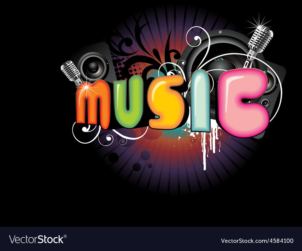 Beautiful music background vector image