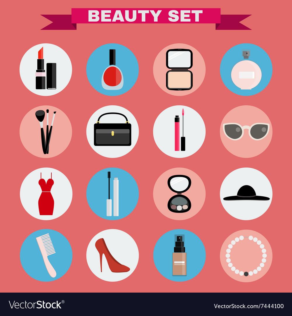 Beauty big icon set