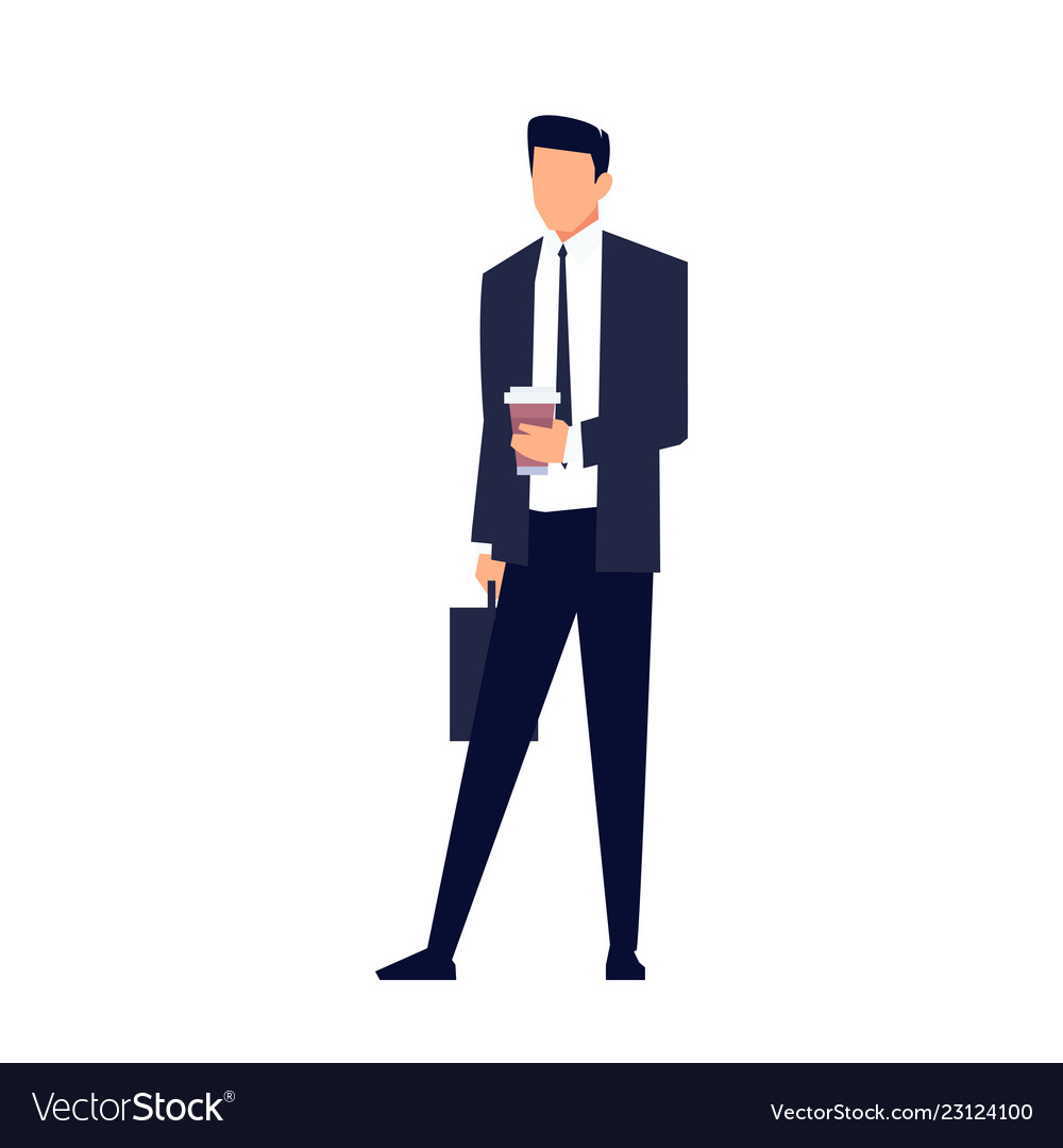 Businessman in a flat style isolated