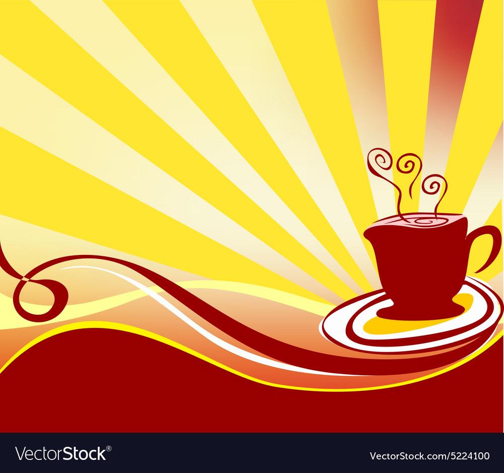 Coffee background logo