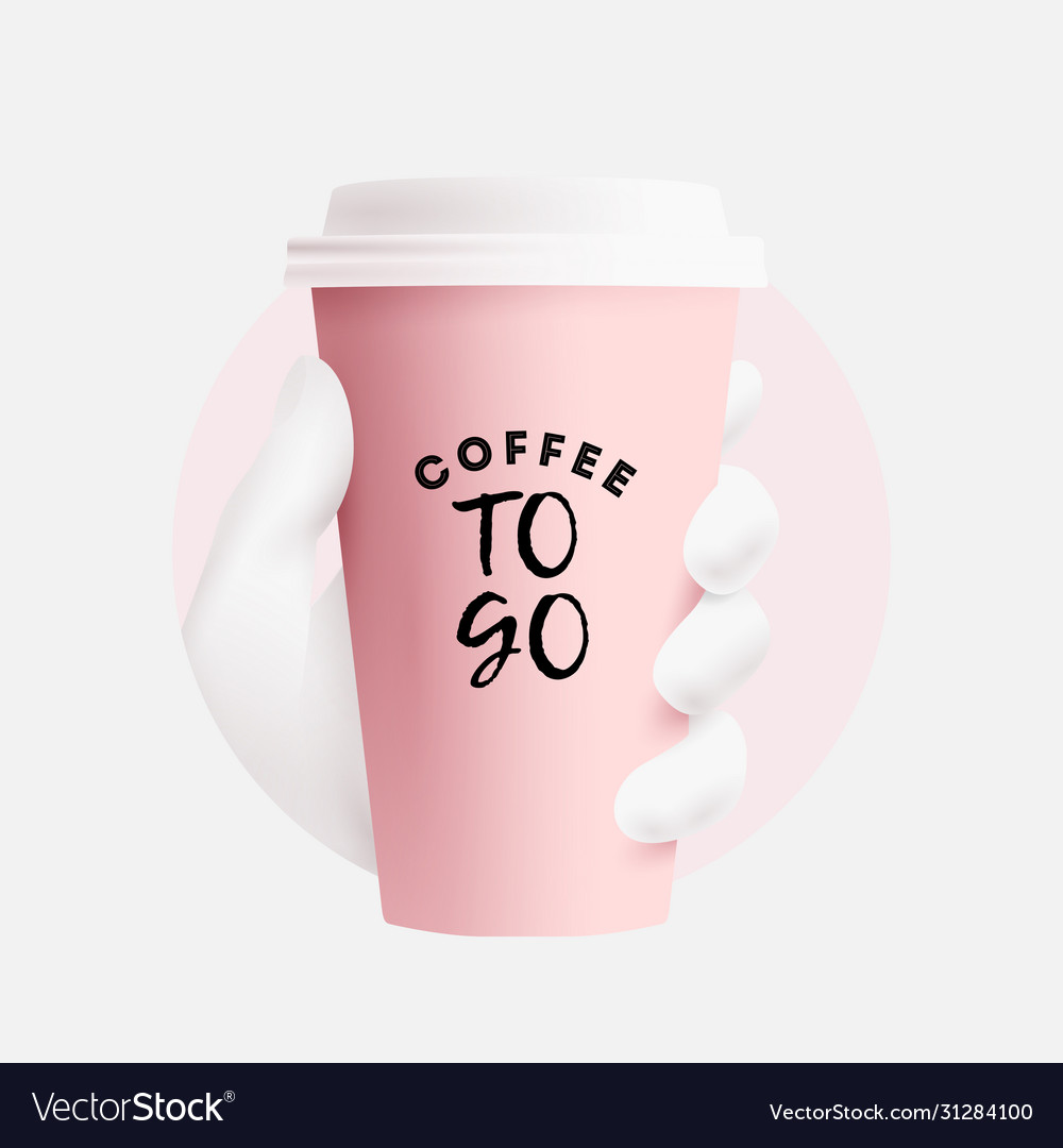 Coffee cup mockup realistic paper coffee to go