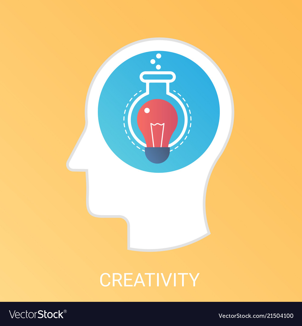 Creativity concept modern gradient flat
