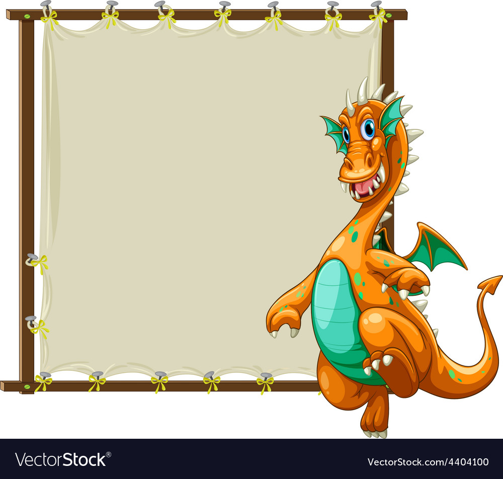 Dragon and frame Royalty Free Vector Image - VectorStock