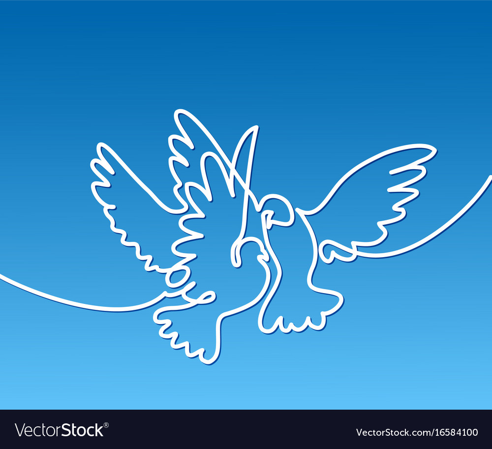 Flying two pigeons logo