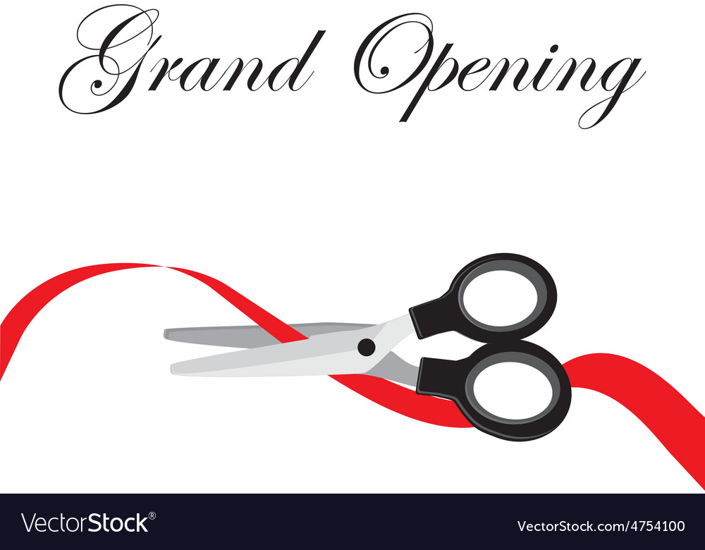 Grand opening vector image