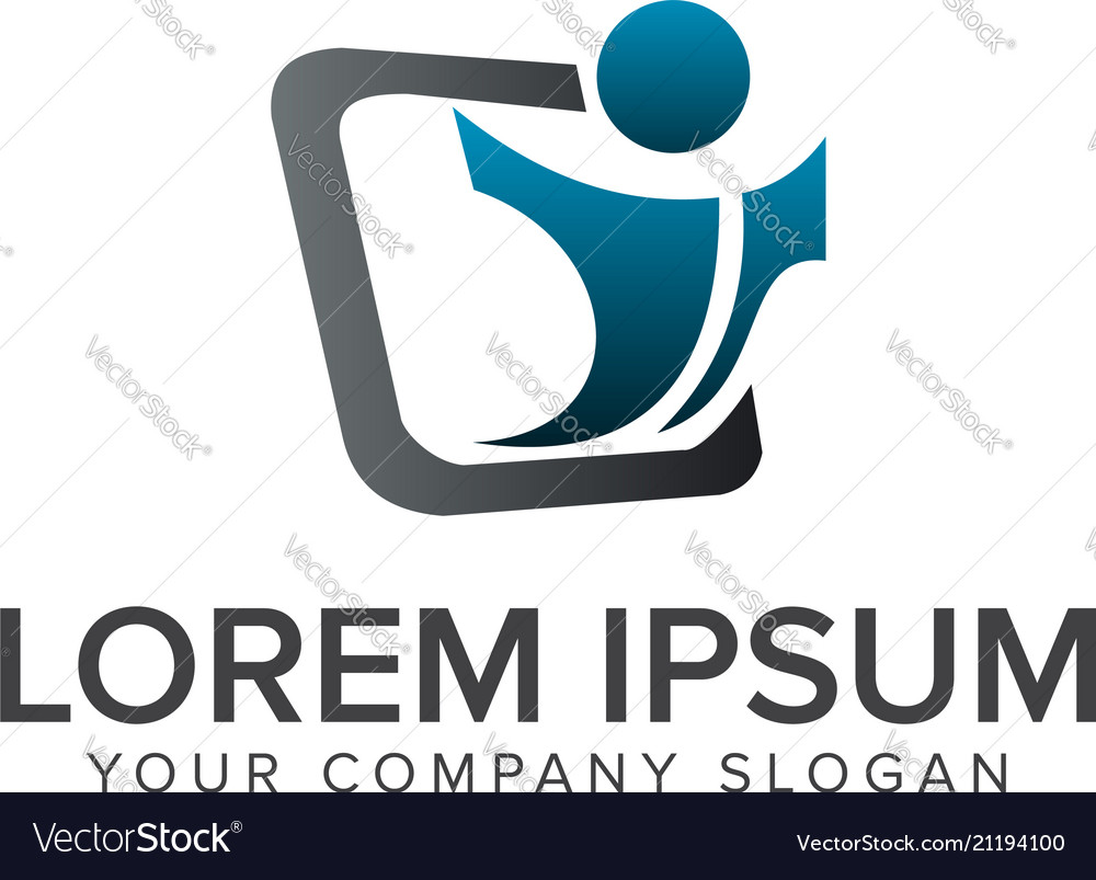 Launch people startup people logo design concept