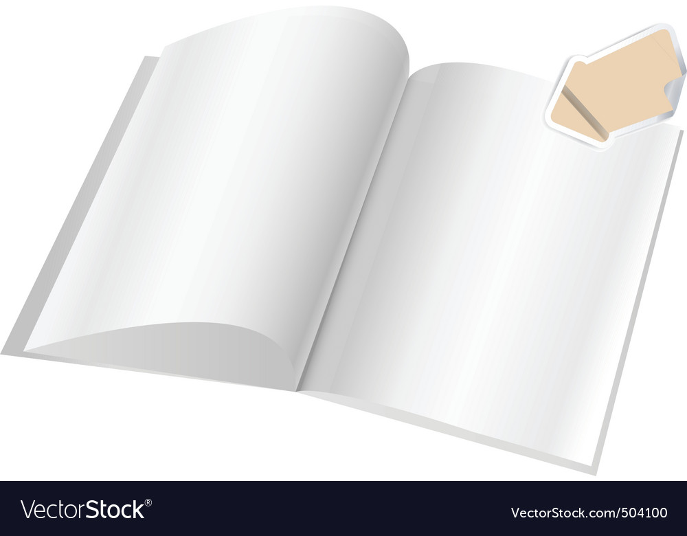 magazine blank page template f royalty free vector image