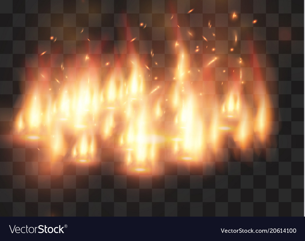 Realistic fire transparent special effect