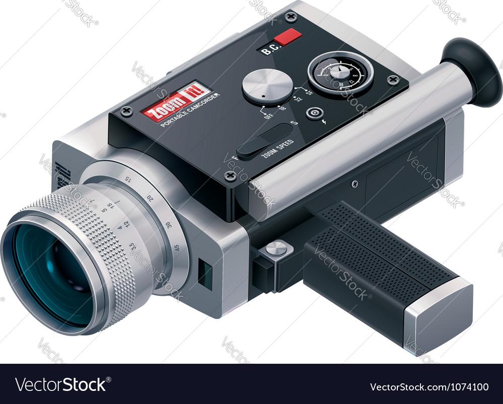 Camera Vintage Vector Free : Retro camcorder icon royalty free vector image