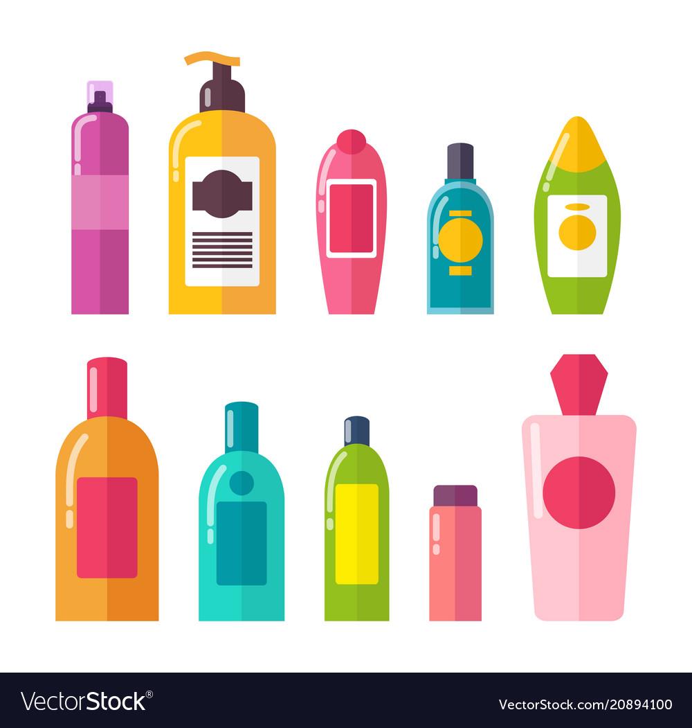 Sprays and shampoos poster set