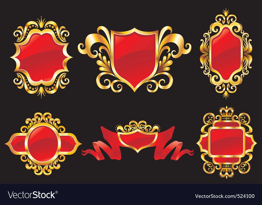 Vintage style shields