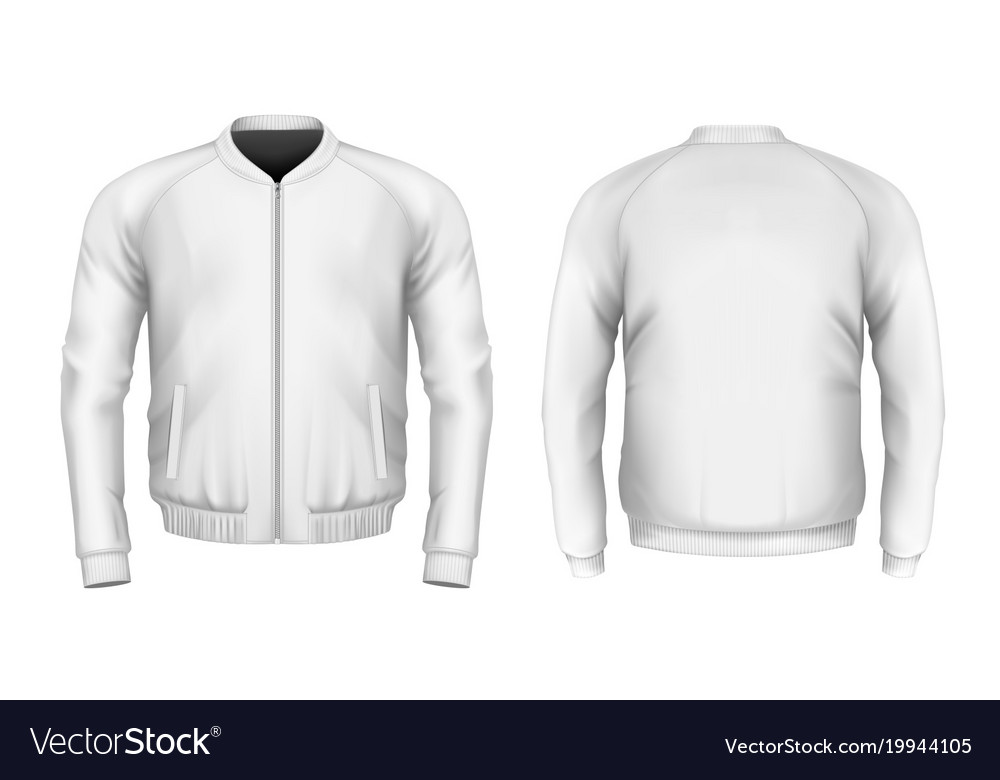 Bomber Jacket In White Royalty Free Vector Image