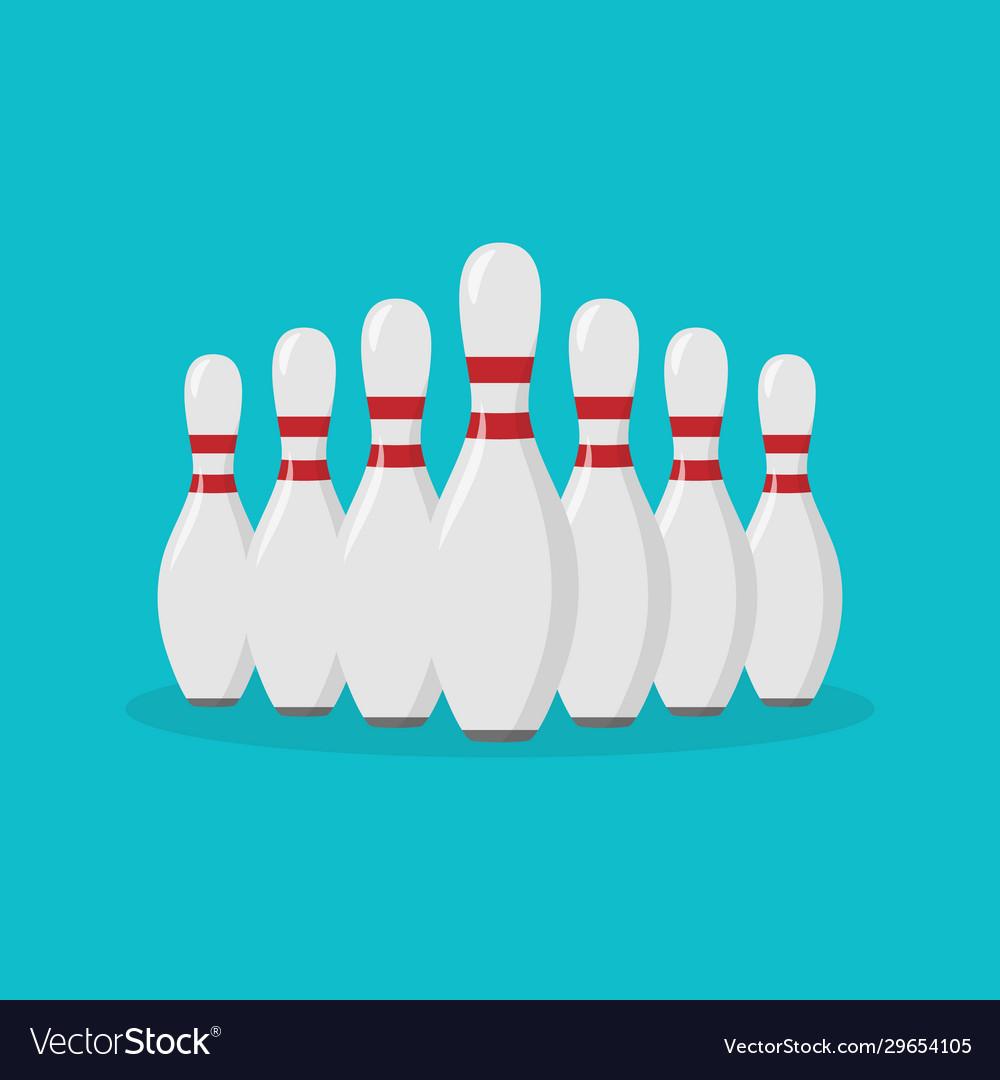 Bowling pin flat icon