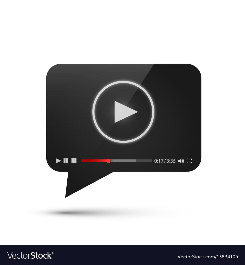 Chat video frame flat icon black object design