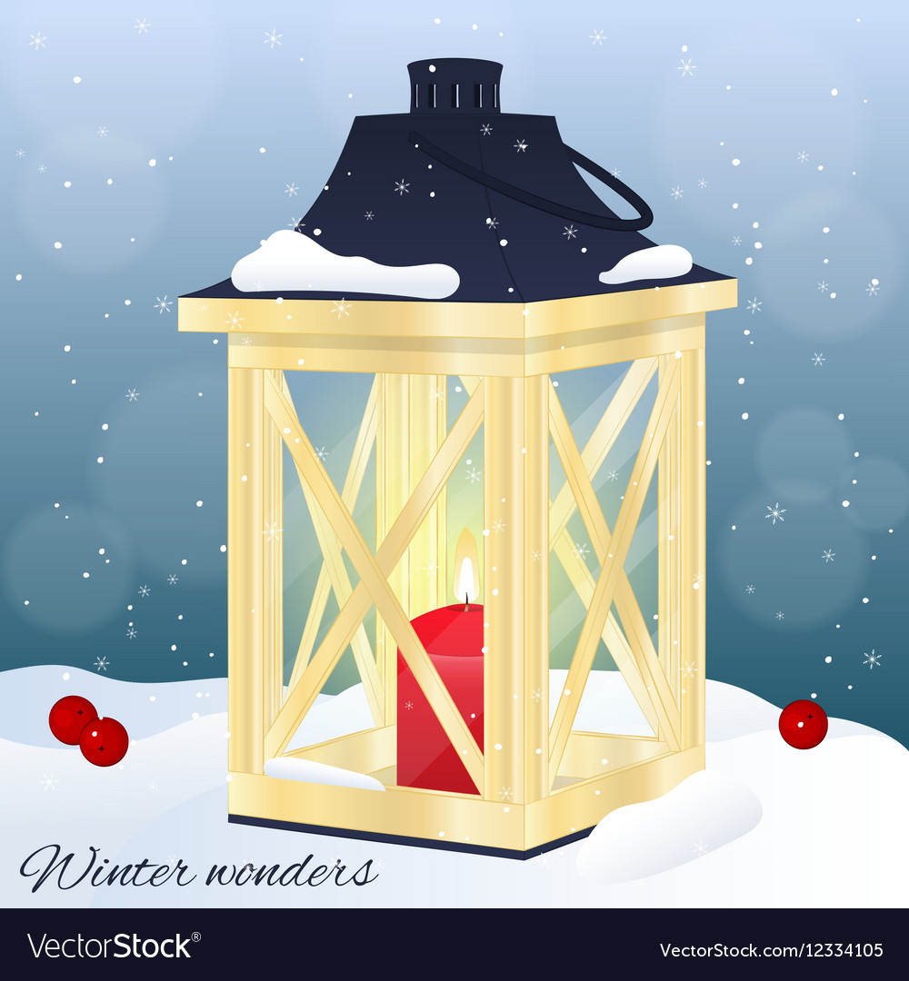 Christmas greeting card or invitation Winter