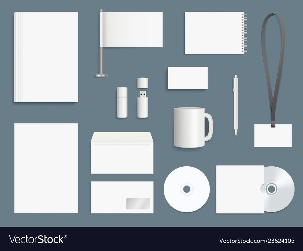 Corporate identity elements business stationary