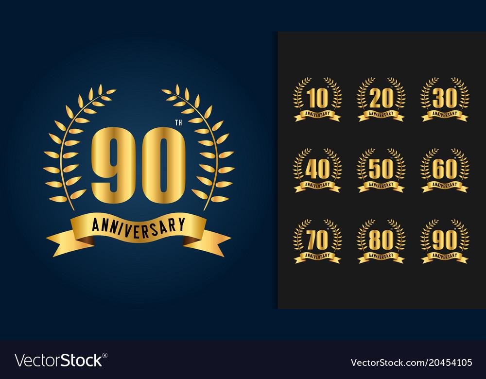 Golden anniversary celebration emblem