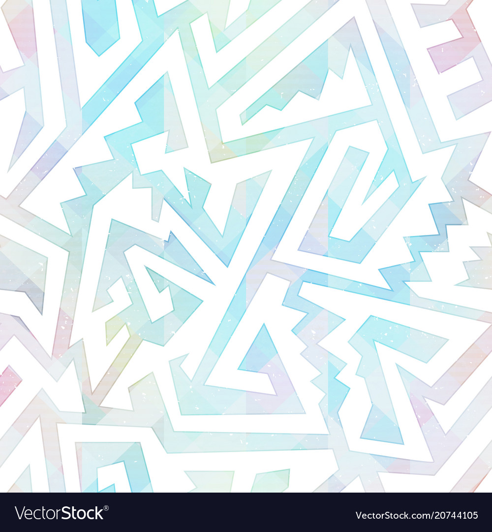 Pastel color maze seamless pattern