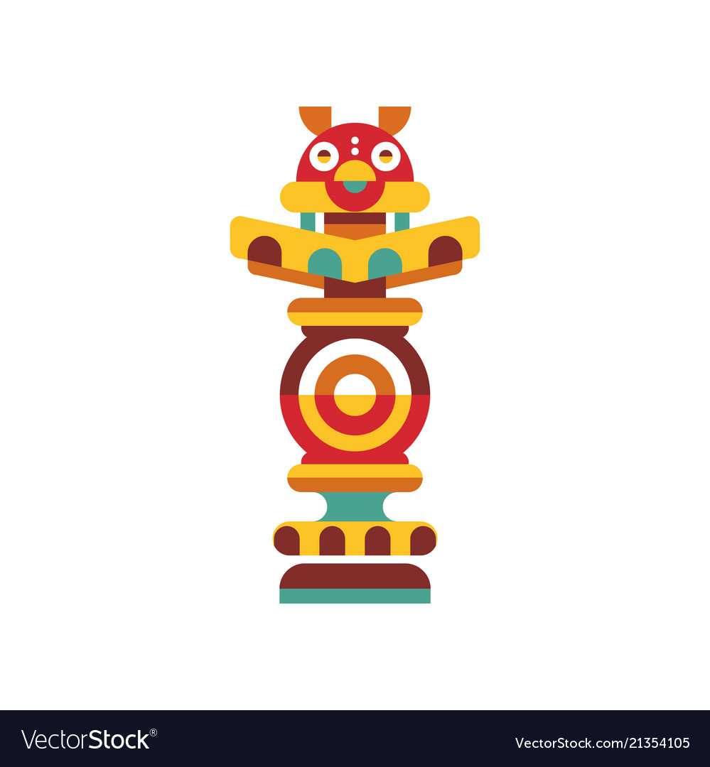 Religious totem pole traditional native cultural