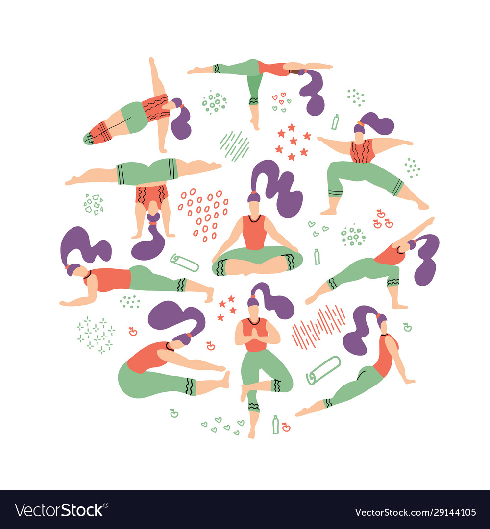 Round shape composition yoga womenhealthy