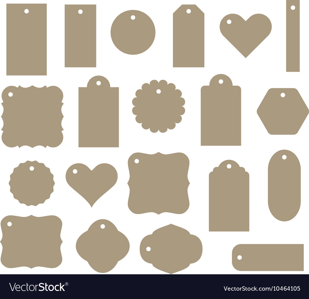 Set gift tag discount label twenty vector