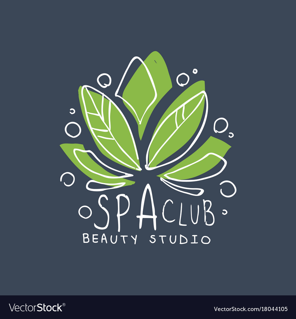 Spa club healthy studio logo template emblem for