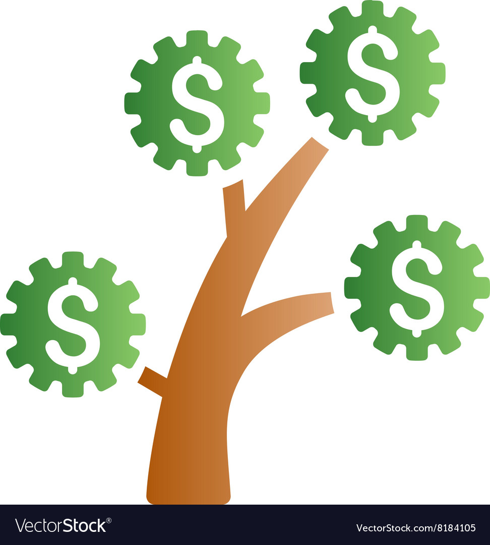 Technology Money Tree Gradient Icon