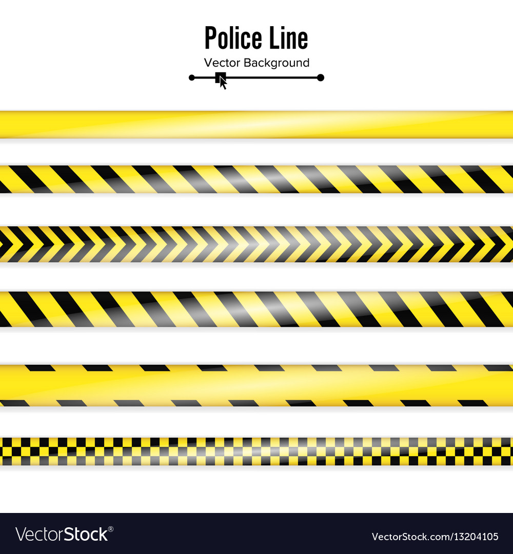 Yellow with black police line danger security