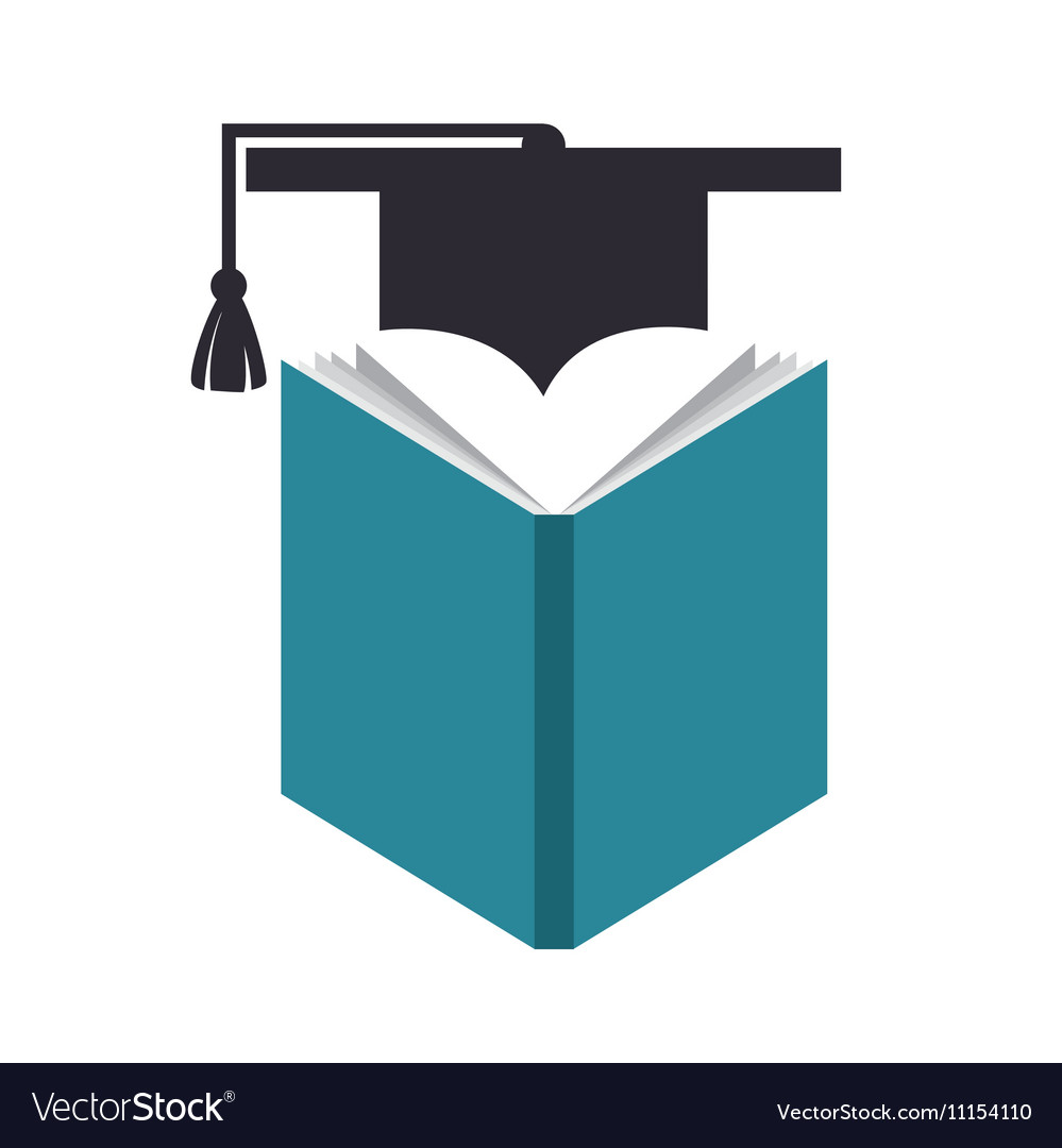Book and cap graduation education online