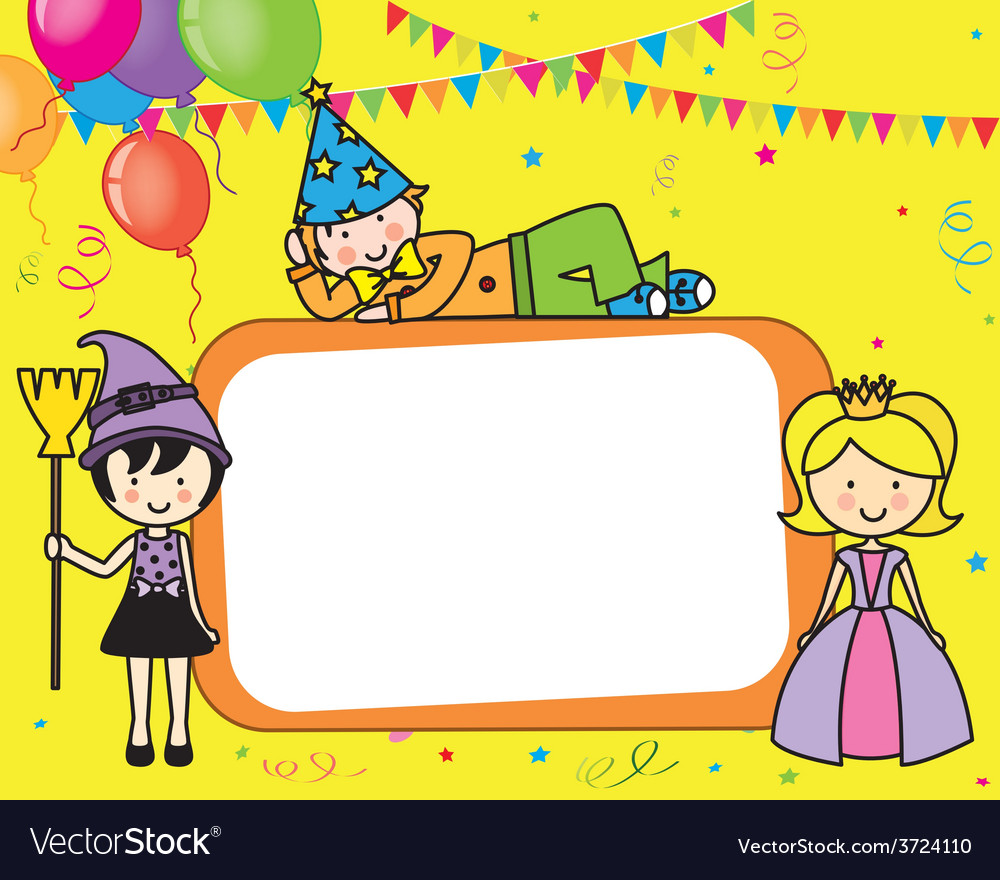Costume party card vector image