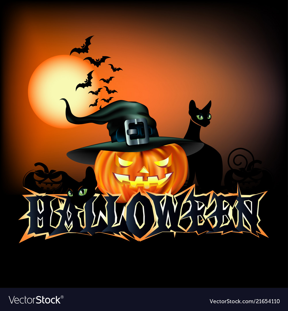 happy halloween poster royalty free vector image
