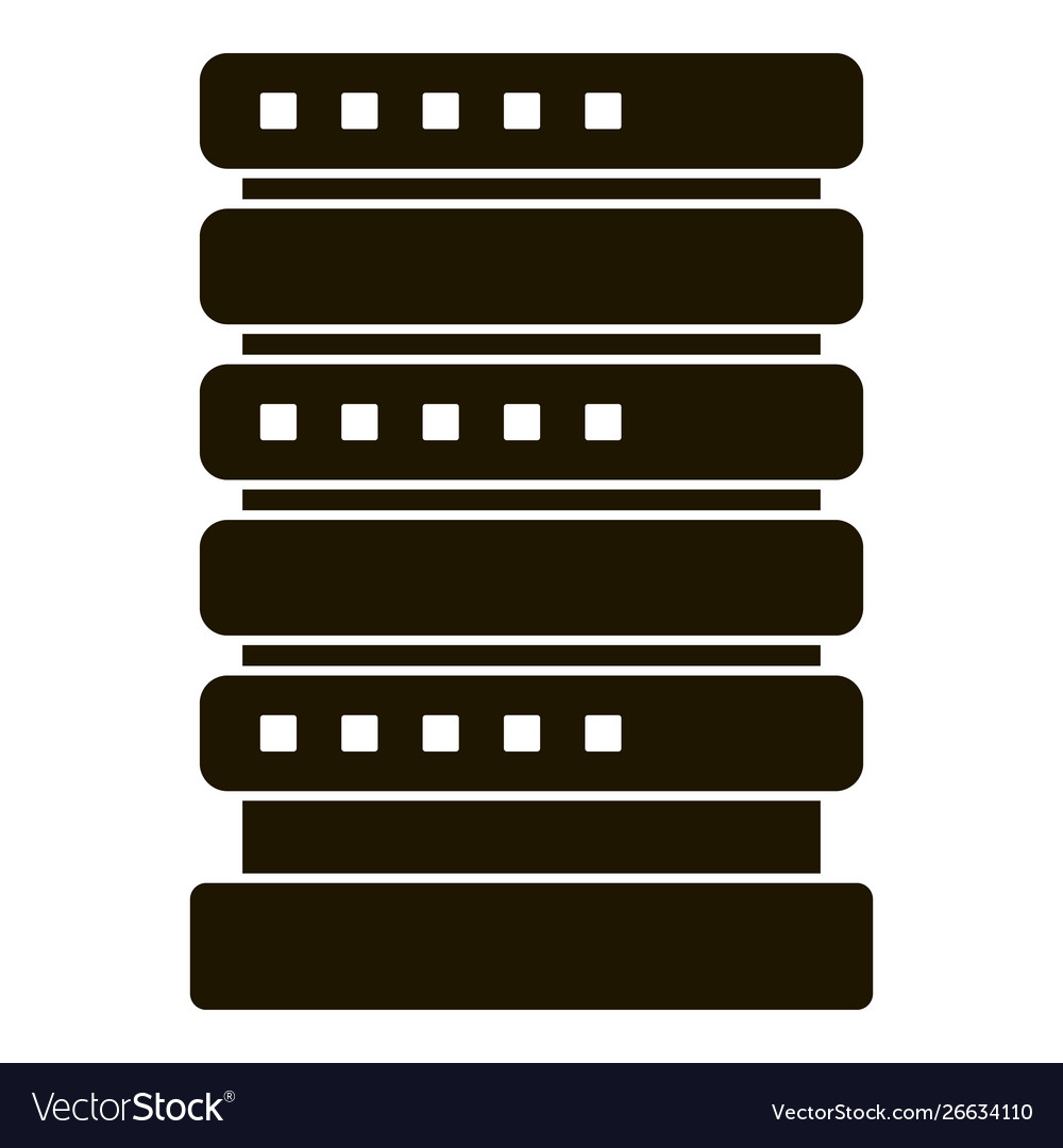 Smart house server icon simple style