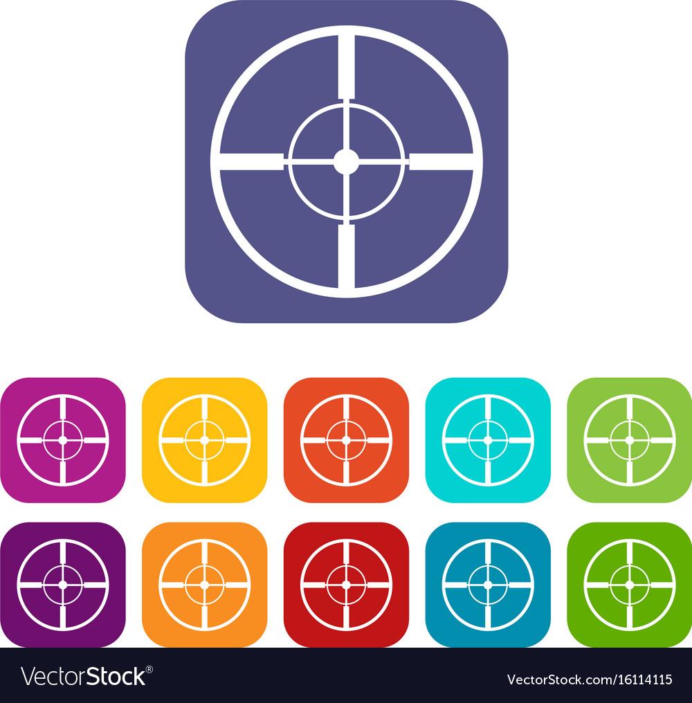 Aim icons set