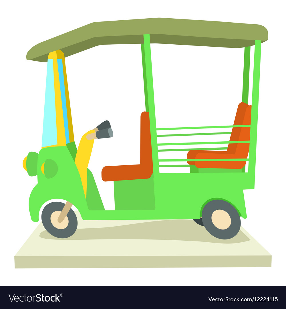 Asian taxi icon cartoon style