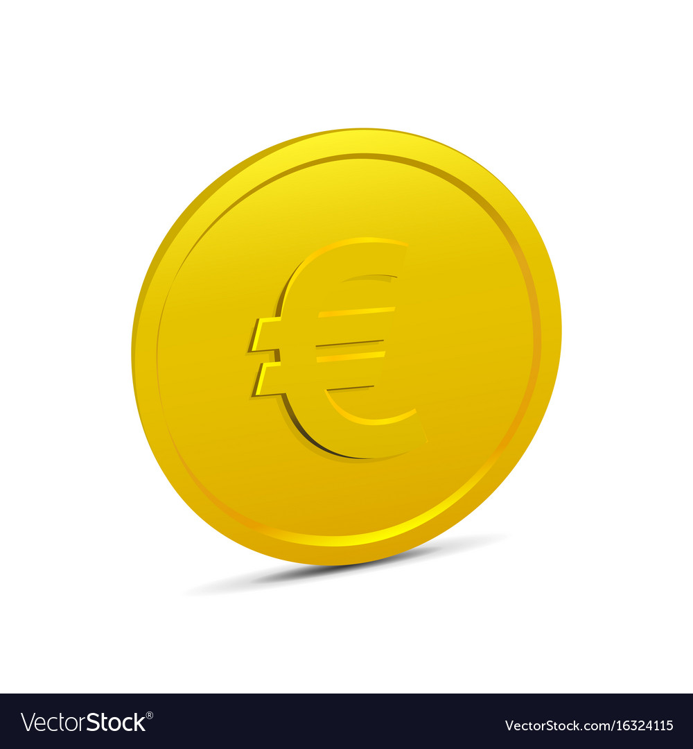 Coin isolated on white background vector image