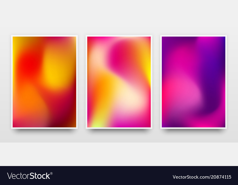 Color gradient poster templates