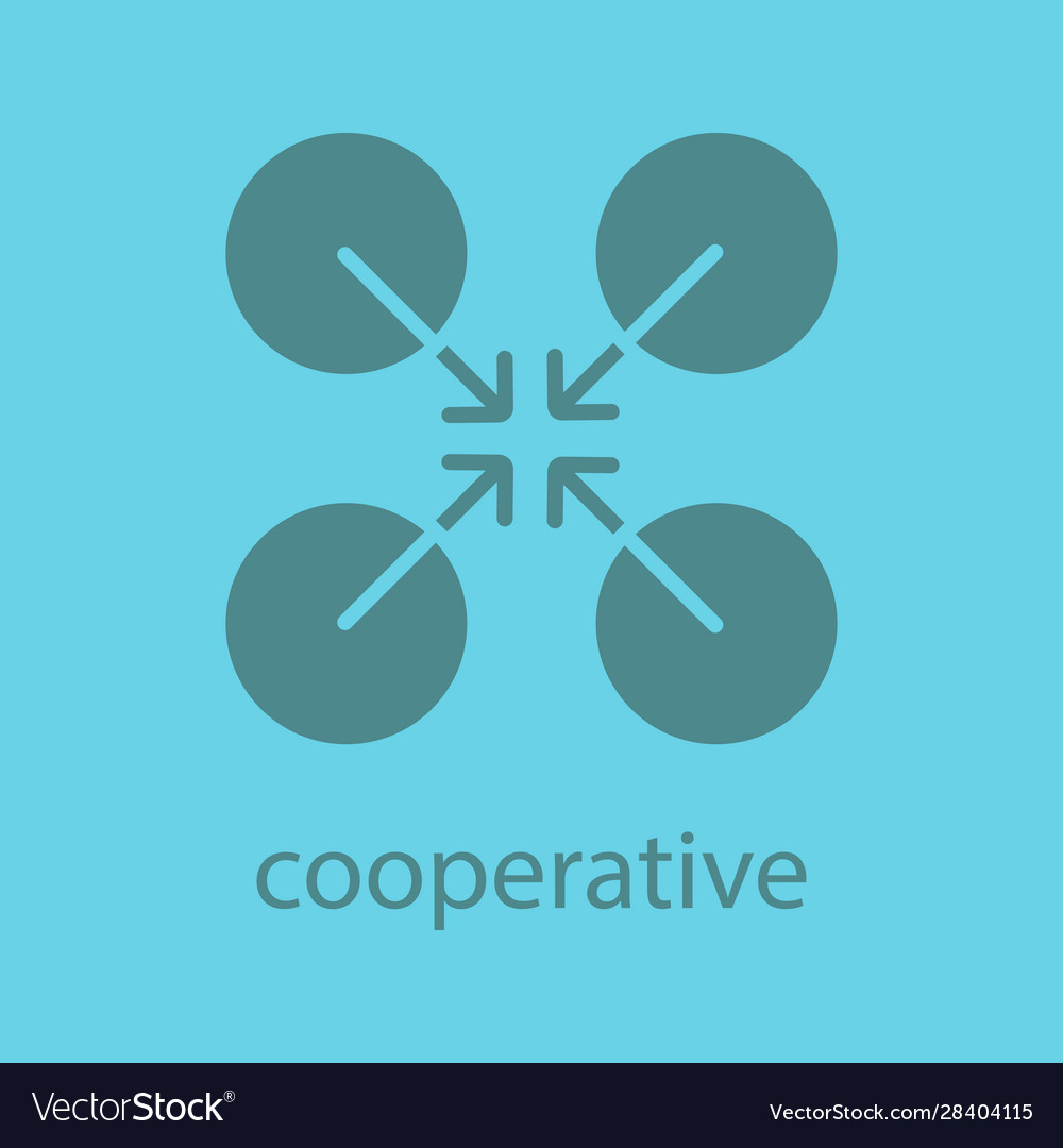 Cooperative abstract symbol glyph color icon