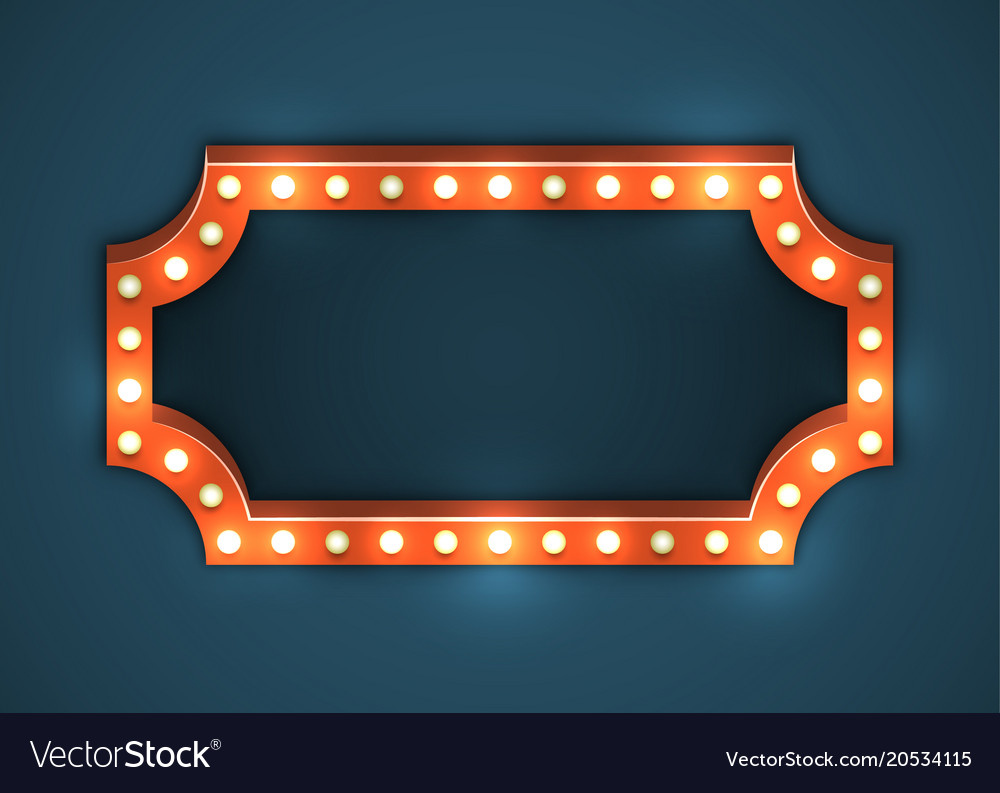 Light bulb frame marquee Royalty Free Vector Image
