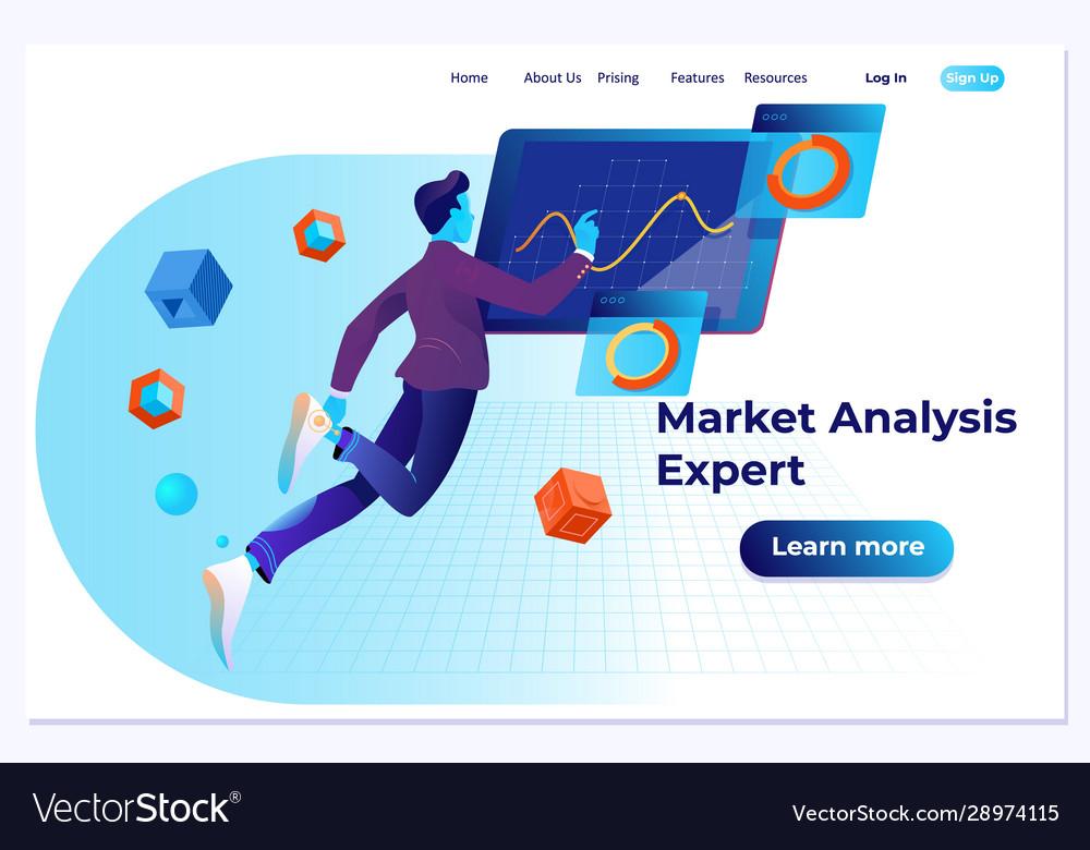 Market analysis expert flat