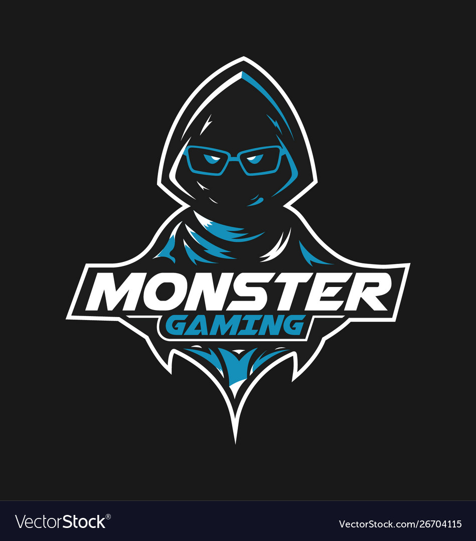 Monster Gaming Mascot Logo Design For Gamer Vector Image