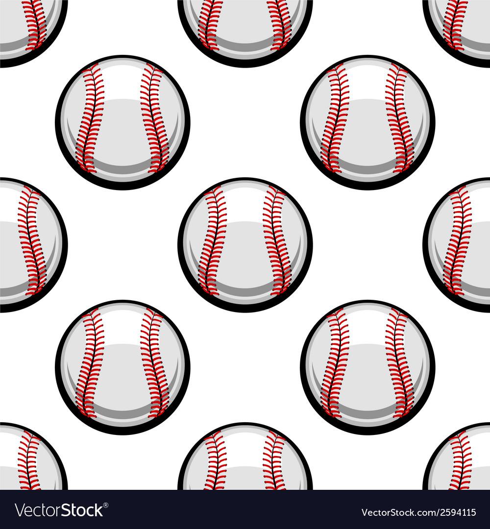 Seamless pattern of baseball balls vector image