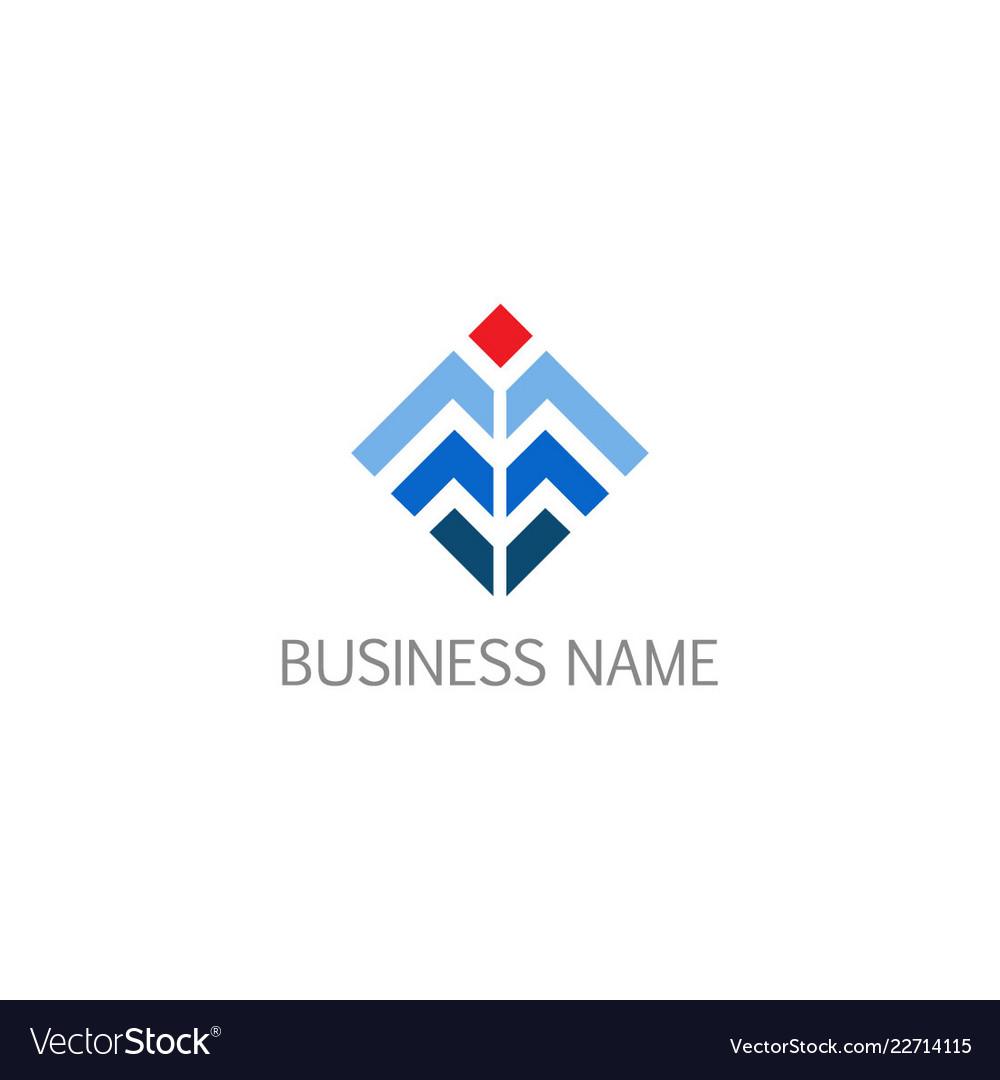 Shape line square technology company logo