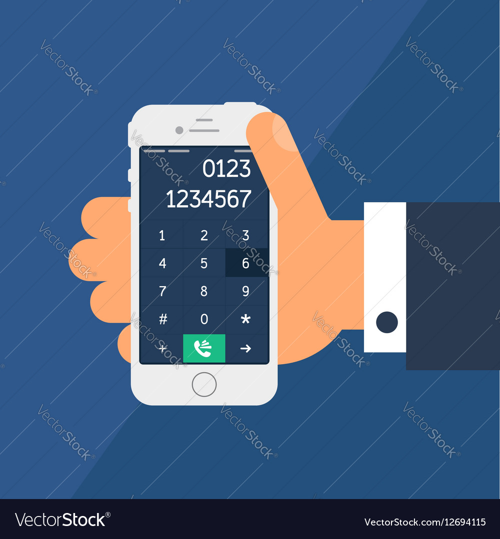 Smartphone with a dial vector image
