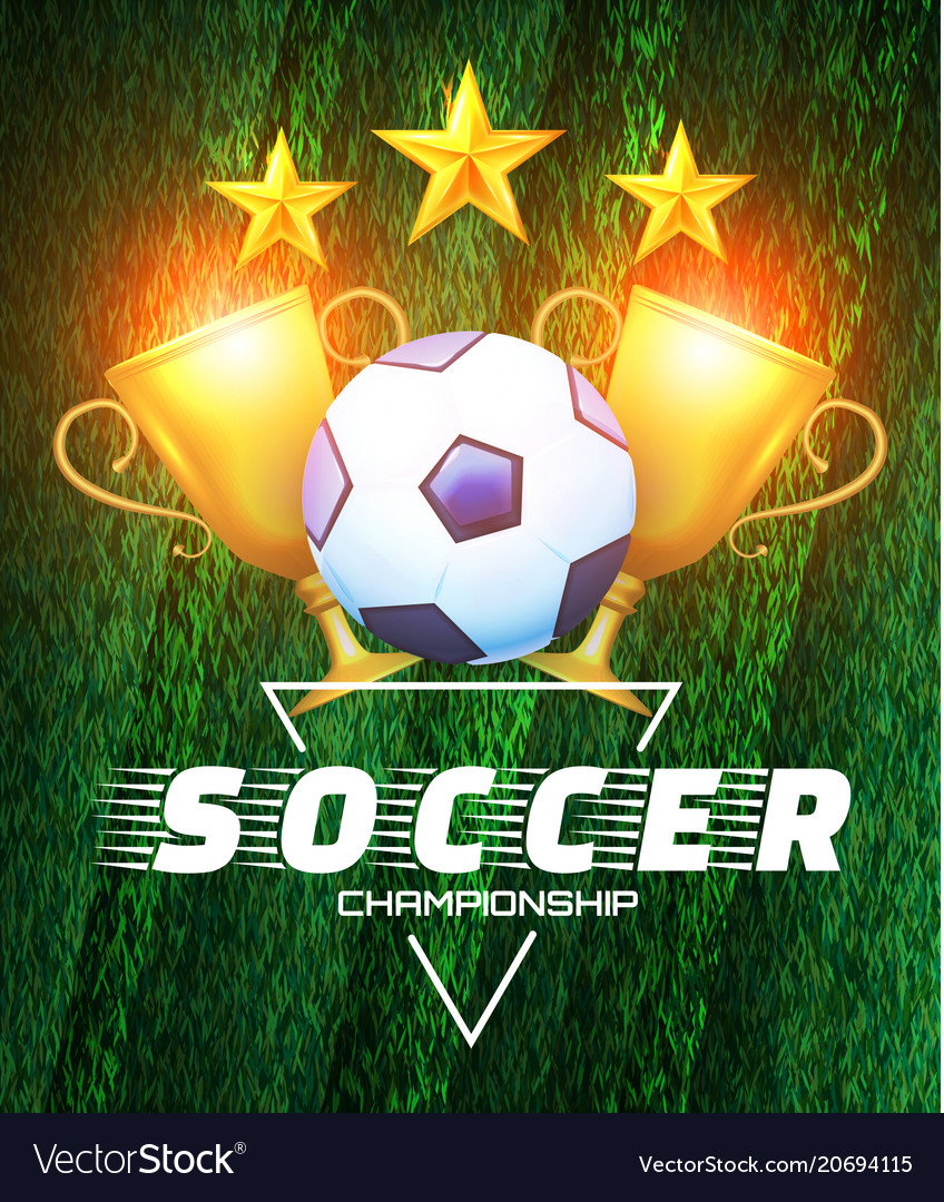 Soccer championship football cup layout design